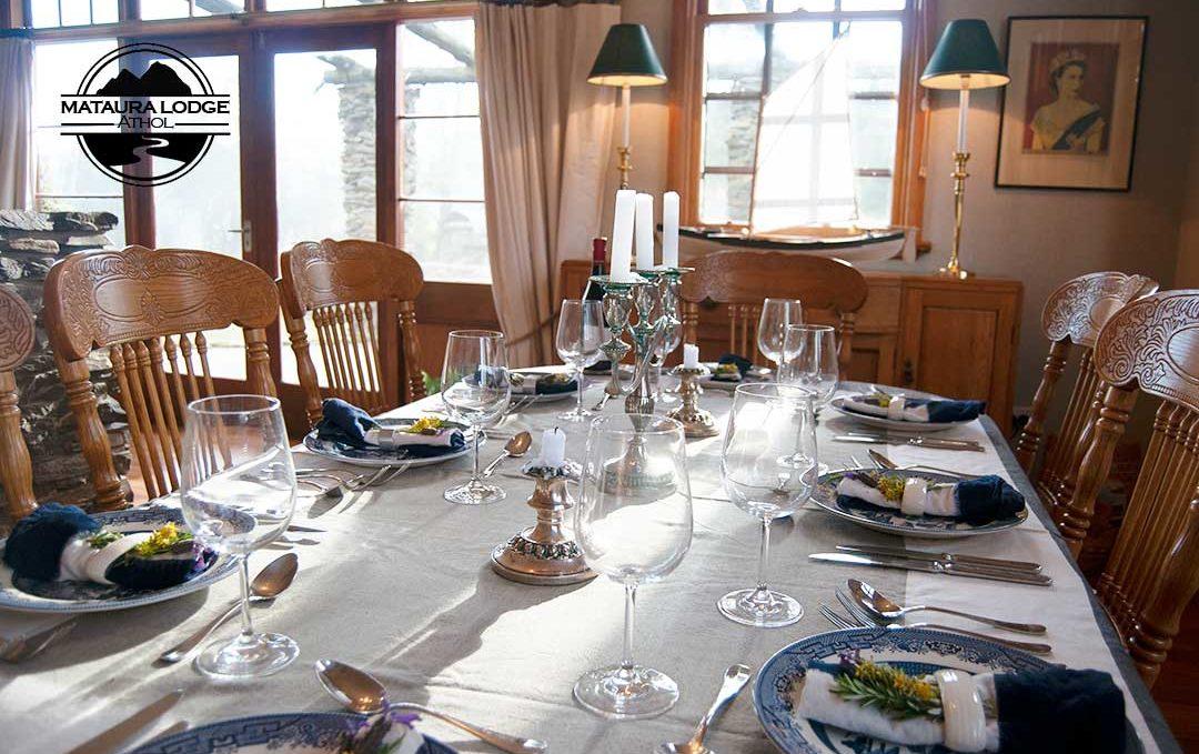 Mataura Lodge Athol - Dining Table