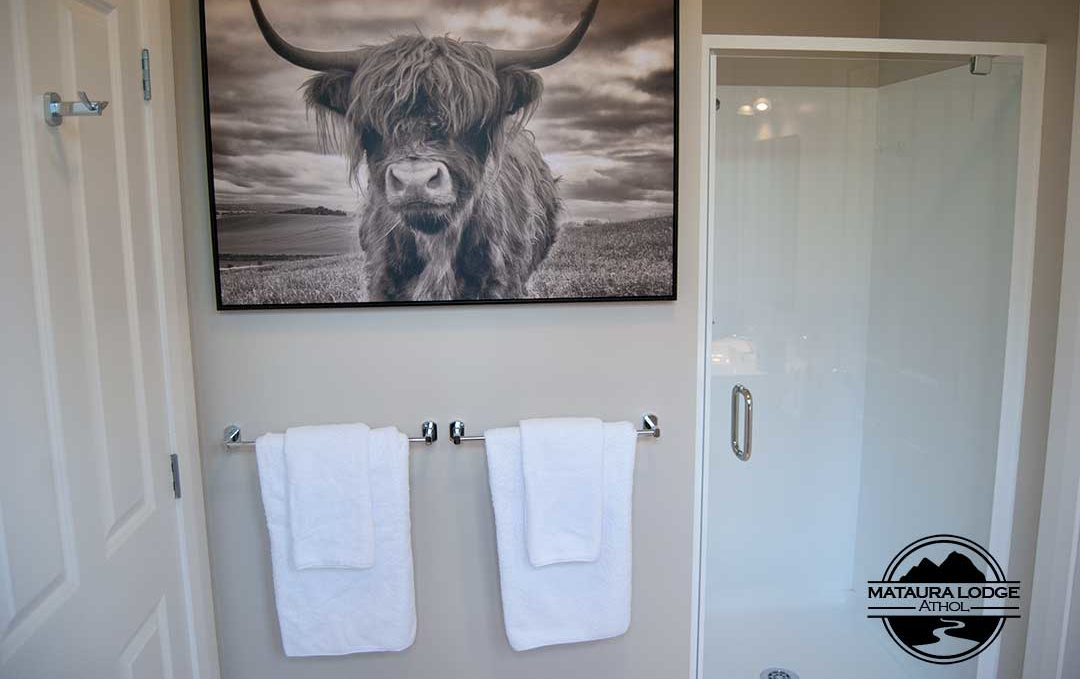 Mataura Lodge Athol King Suite Bathroom
